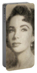 Elizabeth Taylor Hollywood Actress Portable Battery Charger