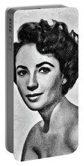 Elizabeth Taylor, Vintage Actress By Js Portable Battery Charger