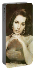 Elizabeth Taylor, Vintage Hollywood Legend By Mary Bassett Portable Battery Charger
