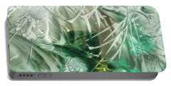 Encaustic Abstract Green Foliage Portable Battery Charger