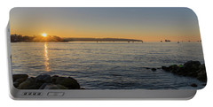 English Bay Sunset Portable Battery Charger