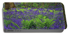 English Bluebell Woodland Portable Battery Charger