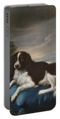 English Springer Spaniel On A Cushion Portable Battery Charger