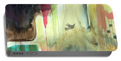 Portable Battery Charger featuring the painting Envisage by Robin Maria Pedrero