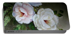 Etre Fleur  Portable Battery Charger by Patricia Schneider Mitchell