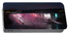 Evening At Niagara Falls, New York View Portable Battery Charger by Brenda Jacobs