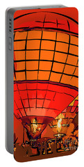 Evening Glow Red And Yellow In Abstract Portable Battery Charger