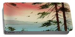 Portable Battery Charger featuring the painting Evening Light by James Williamson