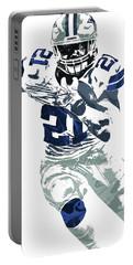 Ezekiel Elliott Dallas Cowboys Pixel Art 6 Portable Battery Charger by Joe Hamilton