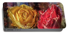 Portable Battery Charger featuring the photograph Faded Flowers by Vladimir Kholostykh