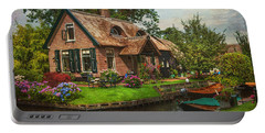 Fairytale House. Giethoorn. Venice Of The North Portable Battery Charger