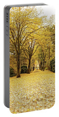 Portable Battery Charger featuring the photograph Carpet Of Golden Leaves by Ivy Ho