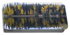 Potty Pond Reflection - Fall Colors Divide Co Portable Battery Charger