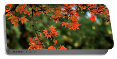 Portable Battery Charger featuring the photograph Fall Leaves by Inge Riis McDonald