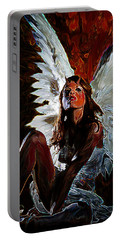 Fallen Angel Portable Battery Charger by Tbone Oliver