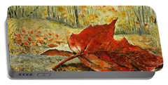 Fallen Leaf  Portable Battery Charger by Betty-Anne McDonald