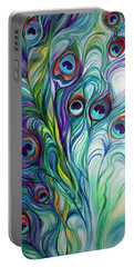 Feathers Peacock Abstract Portable Battery Charger