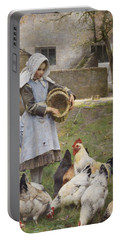Feeding The Chickens Portable Battery Charger
