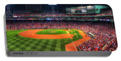 Fenway Park At Night - Boston Portable Battery Charger by Joann Vitali