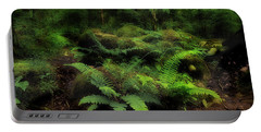Ferns Of The Forest Portable Battery Charger by Mike Eingle