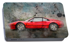 Portable Battery Charger featuring the photograph Ferrari 308 by Joel Witmeyer