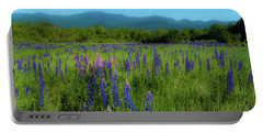Portable Battery Charger featuring the photograph Field Of Lupines by Brenda Jacobs