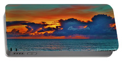 Portable Battery Charger featuring the photograph Fishing At Sunset by Craig Wood