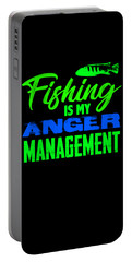 Fishing Is My Anger Management 3 2 Portable Battery Charger