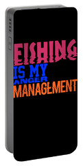 Fishing Is My Anger Management 3 Portable Battery Charger
