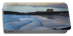 Fistral Beach Portable Battery Charger by Nicholas Burningham