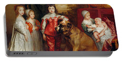 Five Eldest Children Of Charles I Portable Battery Charger