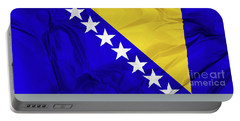 Flag Of Bosnia Portable Battery Charger