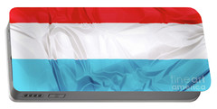 Flag Of Luxembourg Portable Battery Charger
