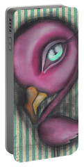 Flamingo Portable Battery Charger by Abril Andrade Griffith