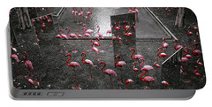 Portable Battery Charger featuring the photograph Flamingo by Setsiri Silapasuwanchai