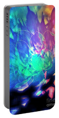 Floral Abstract 17-01 Portable Battery Charger