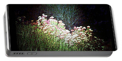 Flowers At Night Portable Battery Charger