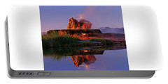 Portable Battery Charger featuring the photograph Fly Geyser At Dawn by Sean Sarsfield