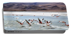 Flying Flamingos Portable Battery Charger by Sandy Taylor