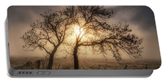 Portable Battery Charger featuring the photograph Foggy Morning by Jeremy Lavender Photography