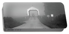 Foggy Sunday Black And White Portable Battery Charger
