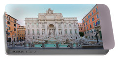 Fountain Di Trevi And Sunrise, Rome Portable Battery Charger by Anastasy Yarmolovich