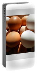 Portable Battery Charger featuring the photograph Framed Eggs by Tina M Wenger