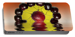 Fresh Cherries And Plums Portable Battery Charger by David French
