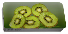 Fresh Kiwi Fruits Portable Battery Charger by David French