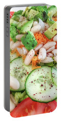 Freshly Made Salad Portable Battery Charger by Tom Gowanlock