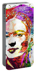 Frida Kahlo Grunge Portable Battery Charger by Daniel Janda