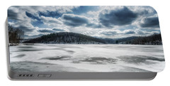 Frozen Lake Portable Battery Charger by Thomas R Fletcher