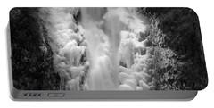 Frozen Multnomah Falls Portable Battery Charger