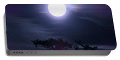 Full Moon Falling Portable Battery Charger